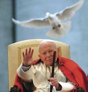 John Paul II with dove